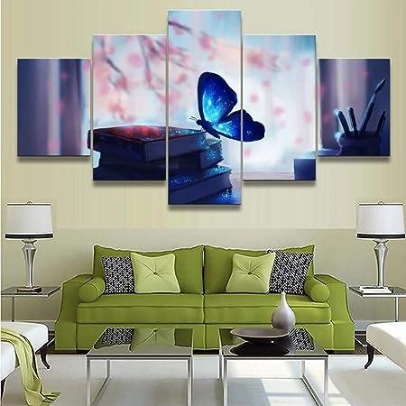 Uhgkt 5 Peintures Sur Toile Fantastique Artistique Le