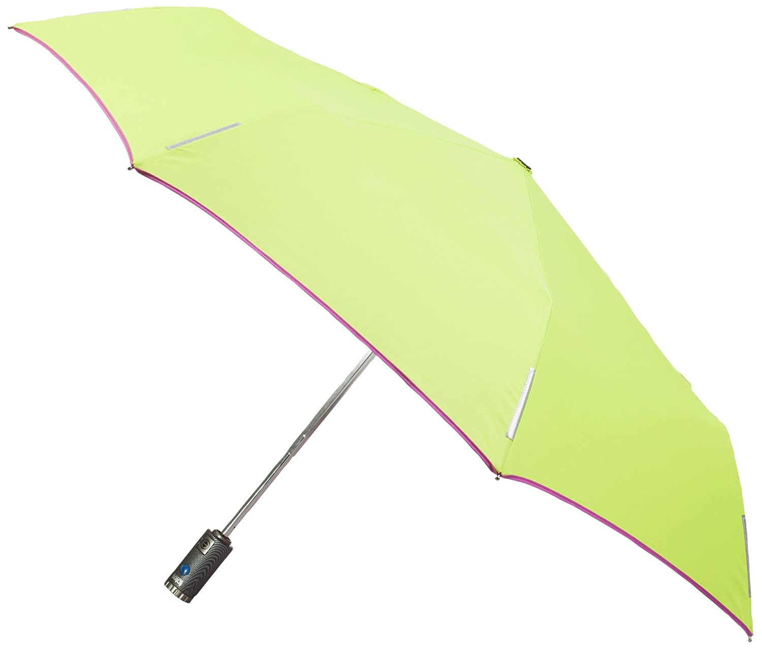 0f7b6495404b Totes Trx Auto Open and Close Light N Go Traveler Umbrella with Built in  Led Flashlight, Apple Green/Strawberry Trim, One Size