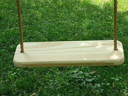 Wood Tree Swings Deluxe Wood Tree Swing / with 10 Feet of Rope Per Feet
