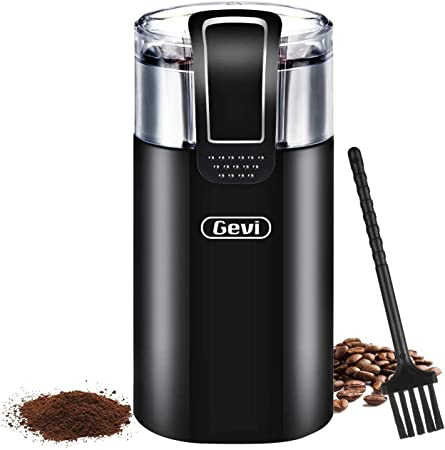 Black hLix BEANGRIND 75 g Capacity Nut and Spice Grinder with Twin Cutting Stainless Steel Blades Coffee Stainless Steel Interior with transparent lid and Powerful 150W Motor.