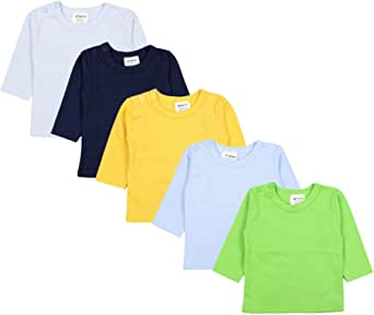 TupTam Camiseta Manga Larga para Bebé Niño, Pack de 5