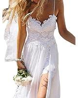 Mr.ace Homme Sexy vestidos de novia Backless Chiffon Lace Beach Wedding Gowns For Women