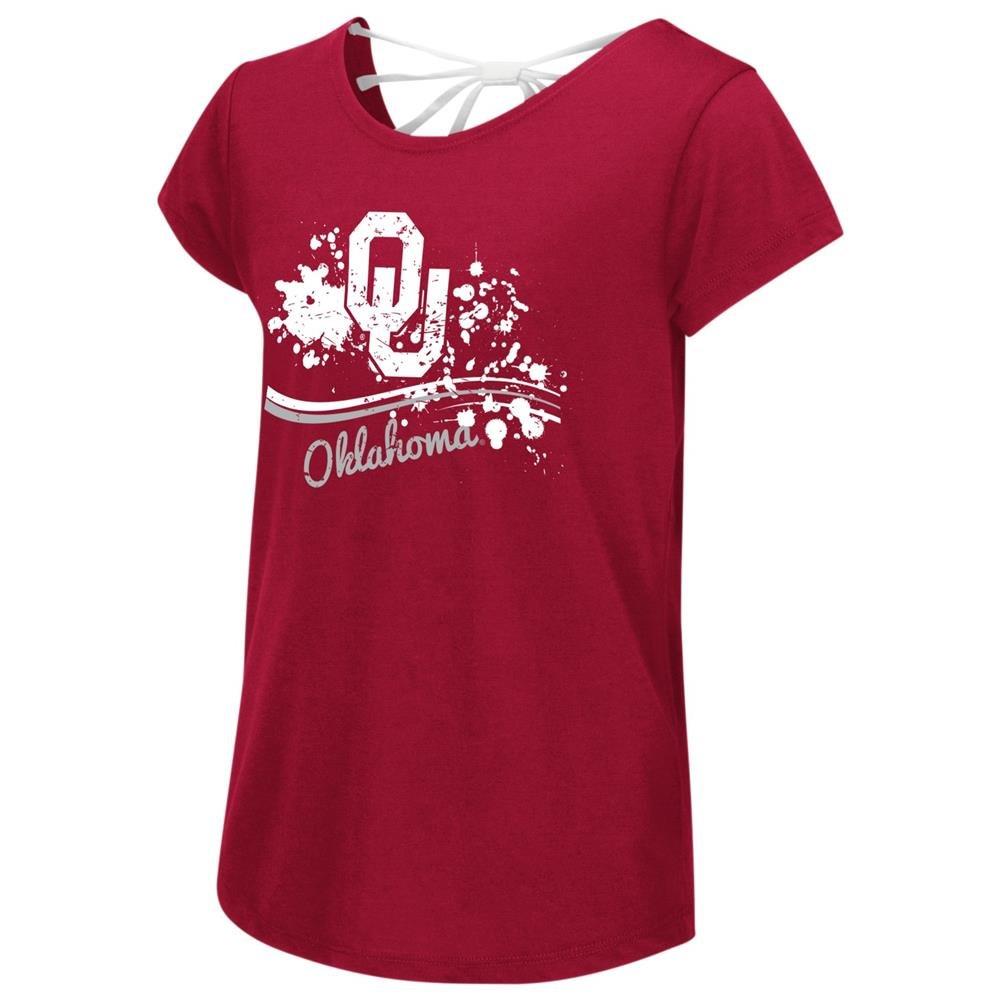 上品 University of of Oklahoma Girls Sooners Youth Tee Girls Bow Back Short Sleeve Tee YTH (4-5) B06VWJDLNQ, スターフィールズ:ae4fc8c2 --- a0267596.xsph.ru