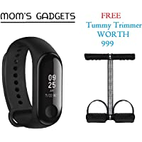 MOM'S GADGETS M3 Intelligence Bluetooth Smart Watch/Smart Bracelet/Health Band/Activity Tracker/Bracelet/Fitness Band/M3 Band/with Heart Rate Sensor Compatible for All Androids and iOS Phone/Tablet
