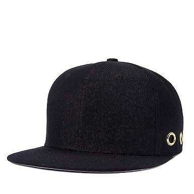Amazon.com: Kpop Men Hoops Hip Hop Hats Brim Straight Man Bones Gorras Planas Black Cap Youth Full Cap Hat Baseball YIC047: Clothing