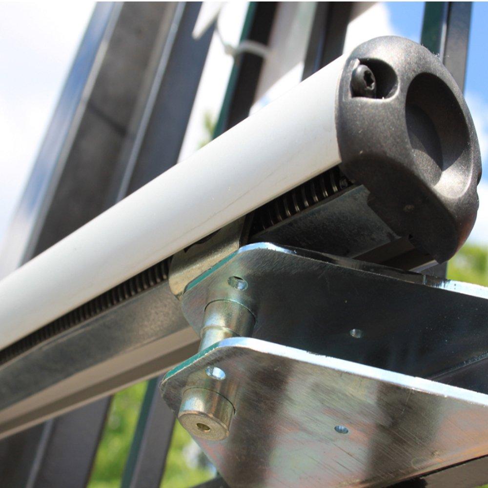 SO4 Einfahrtstor Doppelfl/ügeltor Gartentor Bellevue mit elektr 321 cm 2 Stahlpfosten und Beschl/ägen Gesamtbreite ist ca Antrieb und Riegelset 300 x 150 cm Komplett-Set inklusive 2 Torelementen