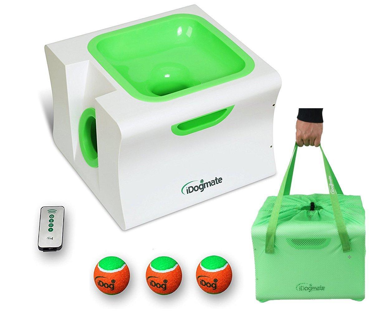 Dog Ball Launcher, iDog Midi Remote Interactive Ball Launcher for Dogs – Launches Standard Tennis Balls, Large-Midi, Grade II