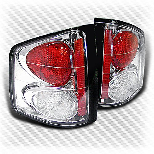 Xtune For 1994-2004 Chevy S10/GMC Sonoma Altezza Tail Lights Rear Brake Tail Lights Pair L+R 1995 1996 1997 1998 1999 2000