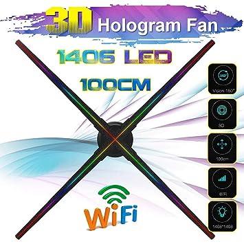100cm del Holograma 3D Proyector con Cuatro Cuchillas, Led Fan ...
