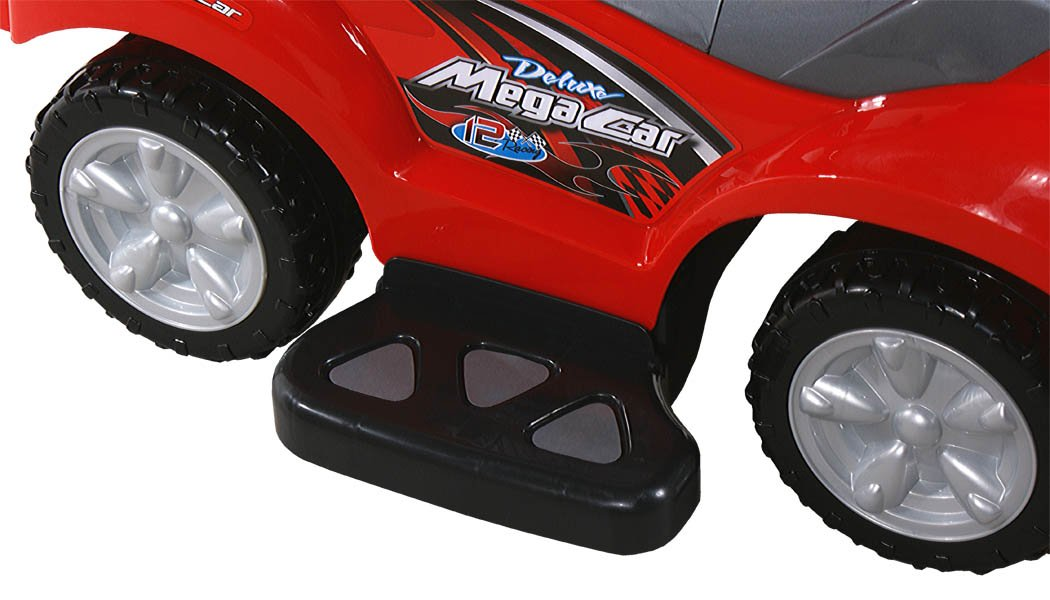 Baby Car - Ride-On - Activity Toy ARTI 381 Mega Car Deluxe Red with Parent Handle BSD
