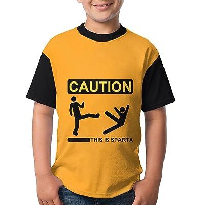 Dnim T-shirts Boys T Shirt This is-Sparta Retro Black Youth Tees