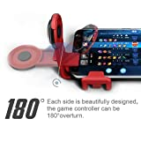 GEE·D J039 Joystick Moilble Game Controller, Video Game Joypad Compatible with iPhone/Android Smartphones 4.0-6.0 inch - Red