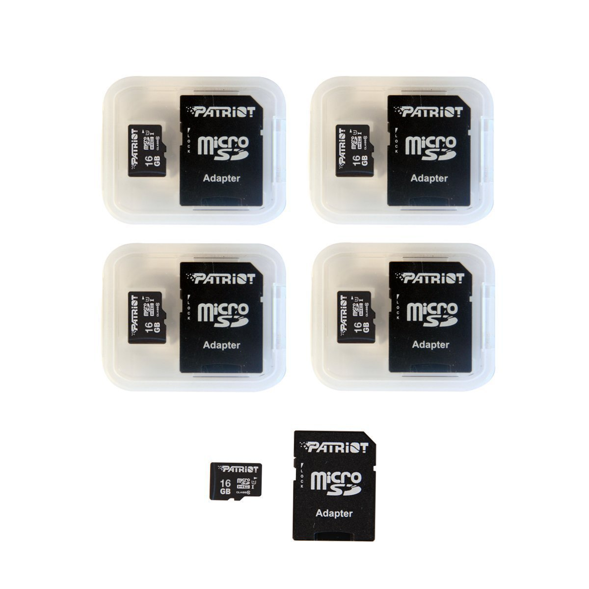 Patriot LX Series 16Gb Micro Sdhc - Class 10 Uhs-I - 5 Pack (Psf16Gmcsdhc5Pk)
