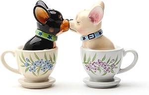 1 X Tea Cup Pups Magnetic Salt & Pepper Shaker Set S/P