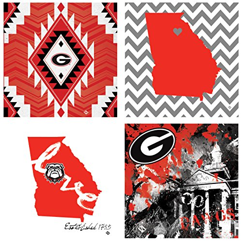 Georgia 4 Piece - Thirstystone 4-Piece University of Georgia Spirit A/4 Coaster Set