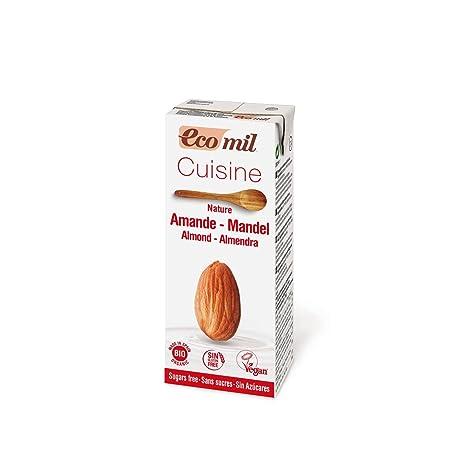 Ecomil Crema Vegetal Bio Cuisine Almendra Nature, 200 ML