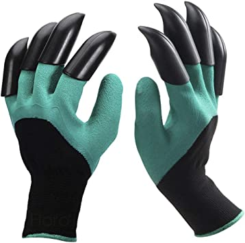 Garden Gloves with Fingertips Claws Great for Digging Weeding Seed