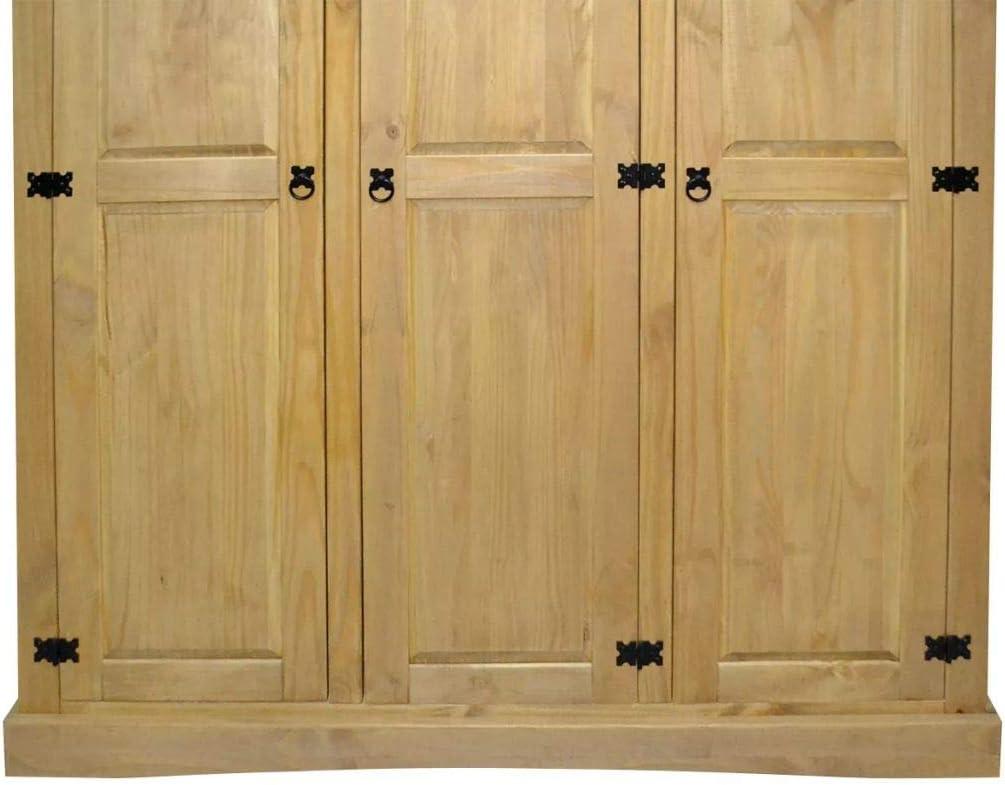 L x W x H Mexican Pine Corona vidaXL Wardrobe,2 Doors,Closet Wardrobe in Closet Armoire Wardrobe Closet Bedroom Armoire Room Closet with Doors Storage Organizer ,39.8 x 20.5 x 66.9