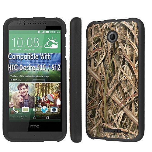 Case, [NakedShield] [Black] Total Armor Protection Case - [Grass Camouflage] for Htc Desire 510 / 512 ()