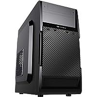 Gabinete C3Plus MT-25V2BK Micro ATX Preto - Gabinete Torre Micro ATX com Fonte 200W Suporta SSD USB 2.0 com Entrada de…