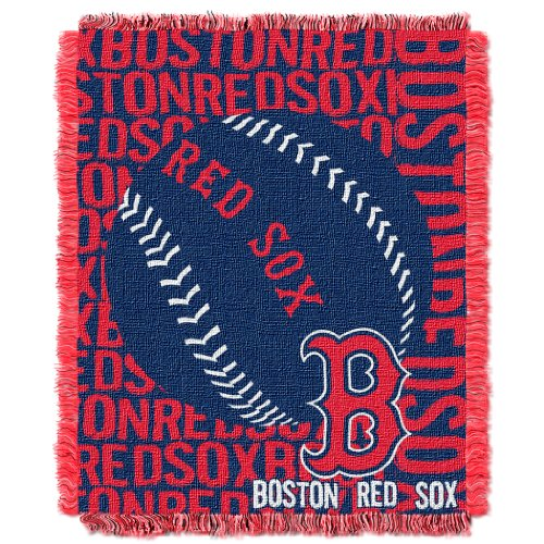 MLB Boston Red Sox Double Play Jacquard Throw, 48