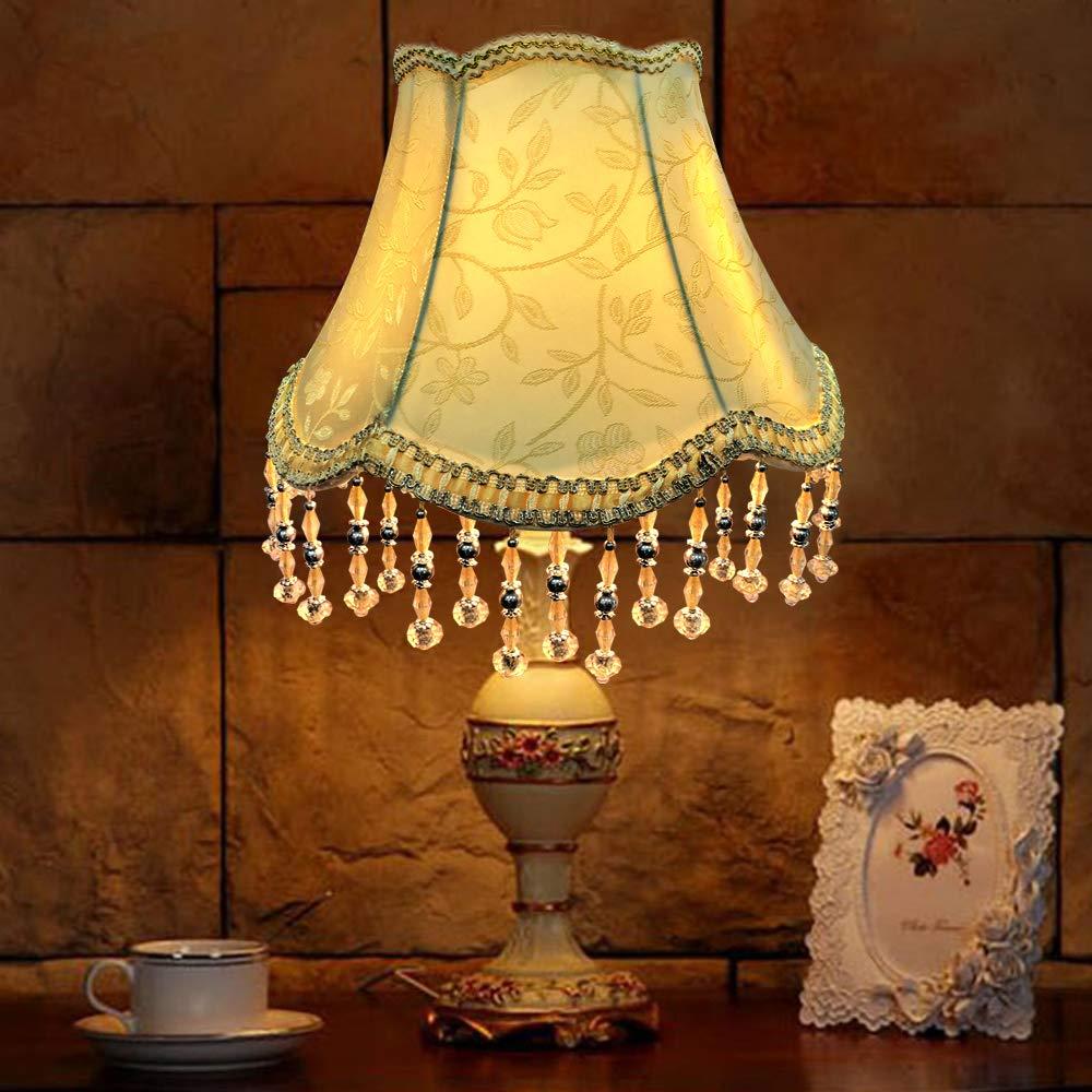 Illuminazione Eastlion In Stile Retro Regale Creativo Attacco Uno Paralume Per Lampada Da Tavolo Lampada Da Terra 15 X 30 X 22cm Paralume Fatto A Mano Con Pendenti Paralumi