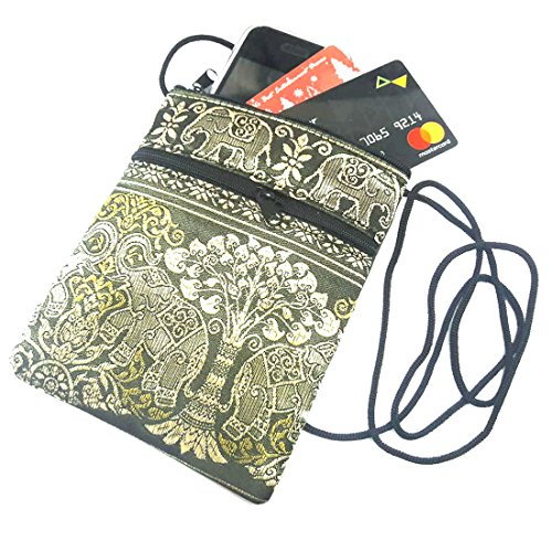 EB2 Gold Thai Hippy Tribe Hmong Crossbody Hill Elephant Bag 71qf7a0
