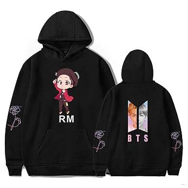 para toda la familia cupón de descuento fecha de lanzamiento BTS Miembro Suéter De Dibujos Animados RM Versión Q Sudadera ...