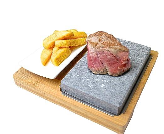 Set de piedra volcánica para carne: Amazon.es: Hogar