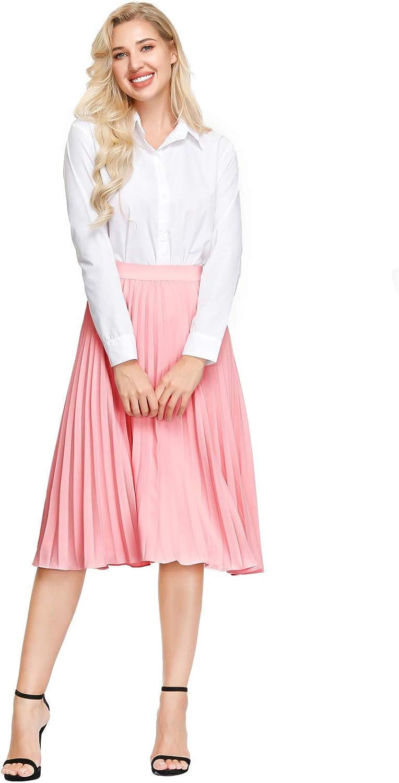 Kate Kasin Girl School Skirt High Waist Pleated A-Line Swing Skirts