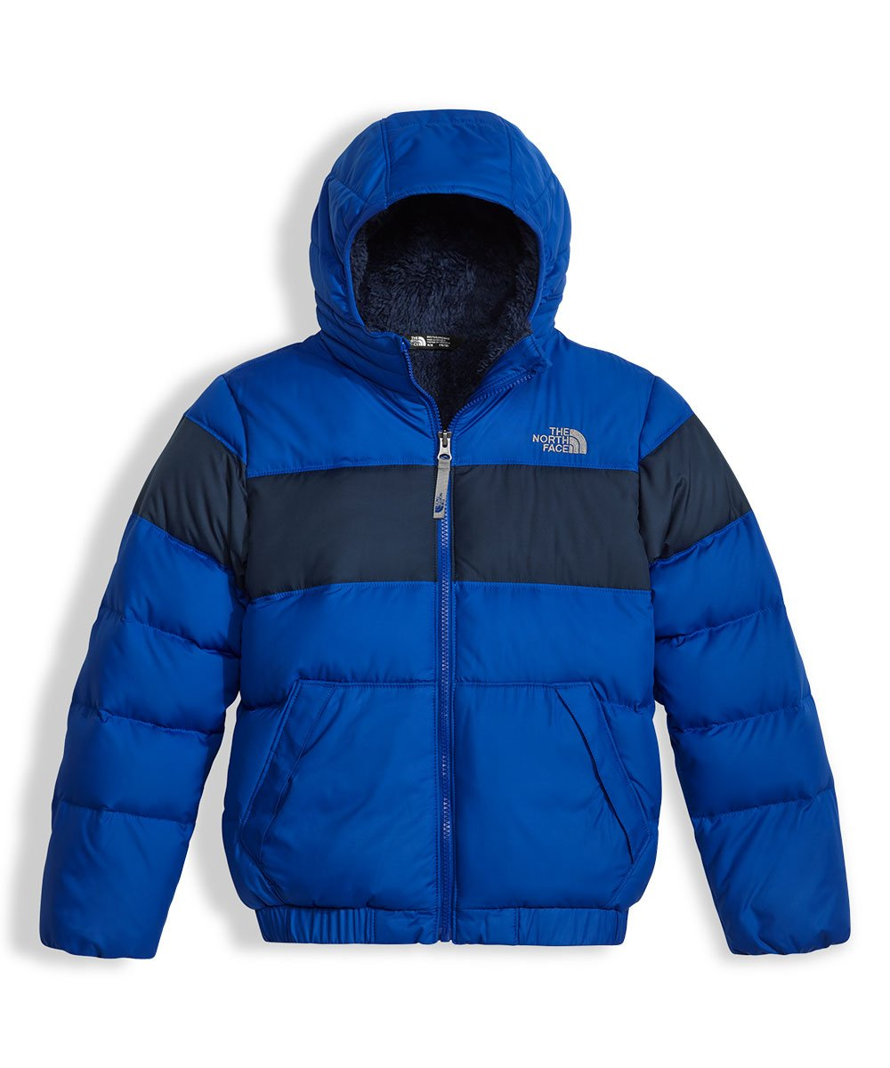 The North Face boys MOONDOGGY 2.0 DOWN HOODIE NF0A34QE4H4_M - BRIGHT COBALT BLUE by The North Face