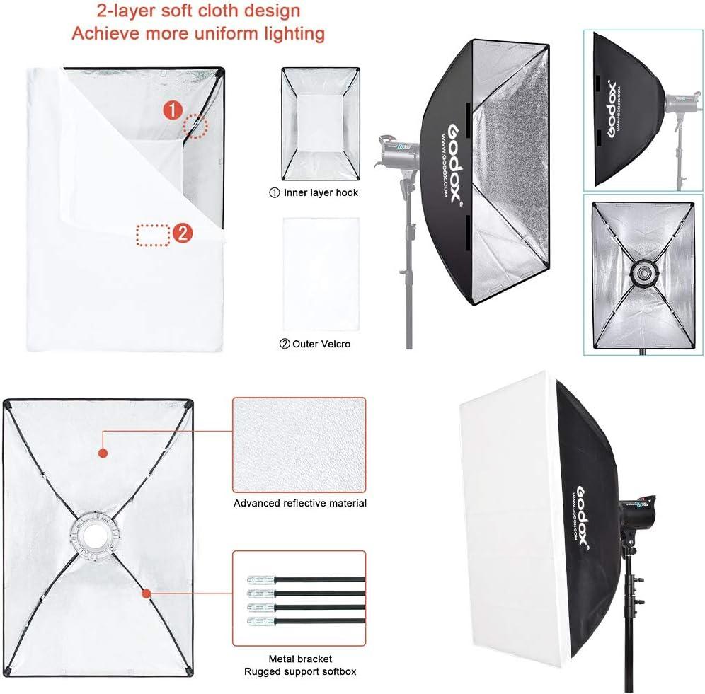 GODOX Grille Softbox 140cm Bo/îte /à Lumi/ère Octogonale Photographie Lumi/ère avec Bowens Mount pour Portrait Produit Photographie Studio Flash Speedlight