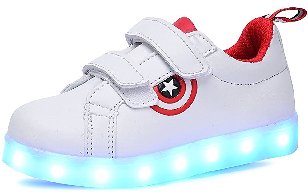 sexphd Unisex LED Luminous Knit Sneakers Fashion USB Charging Light Boys Girls Shoes