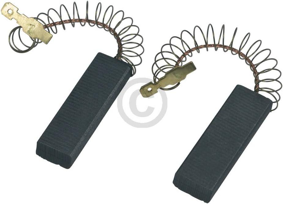 carboncini abrasivi 4,8 mmAMP per ricambi per lavatrice Siemens spazzole di carbone come Bosch 00616505 616505 2 pezzi Carboncini per motore