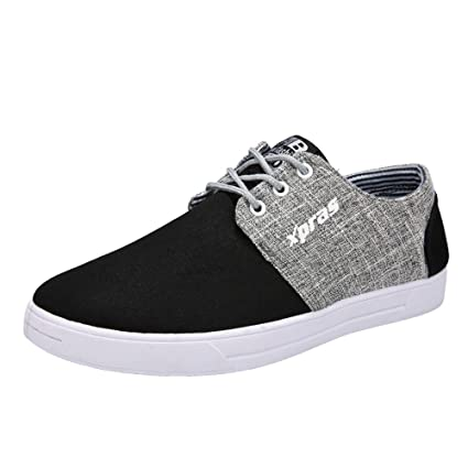 0af4917b587a0 Amazon.com : Moonite Men Breathable Sneakers Canvas Skate Shoes ...
