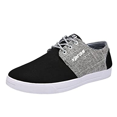 6027dd28db6a Riou Men Casual Shoes Breathable Flat Shoes Sports Shoes Student Canvas  Shoes  Amazon.co.uk  Clothing
