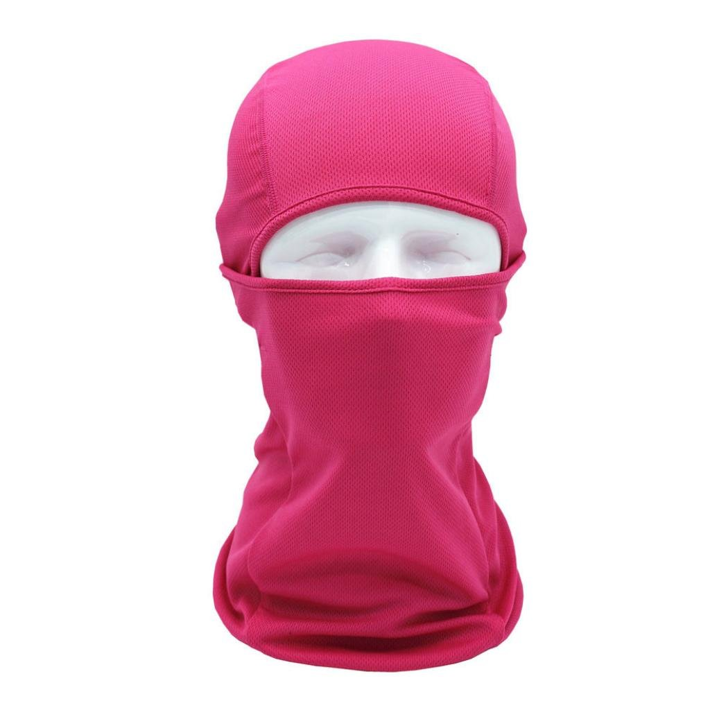 Chartsea Tactical Motorcycle Cycling Hunting Outdoor Ski Full Face Mask Helmet (Hot Pink)