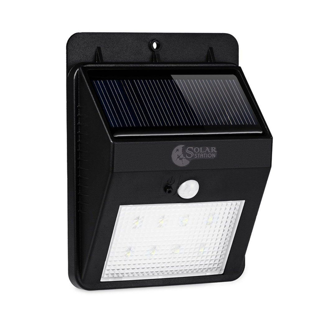 8 LED Solar Motion Sensor Lights,Solar Station Waterproof Energy Saving Outdoor Sensor Led Solar Wall light for Garden,Patio,Yard