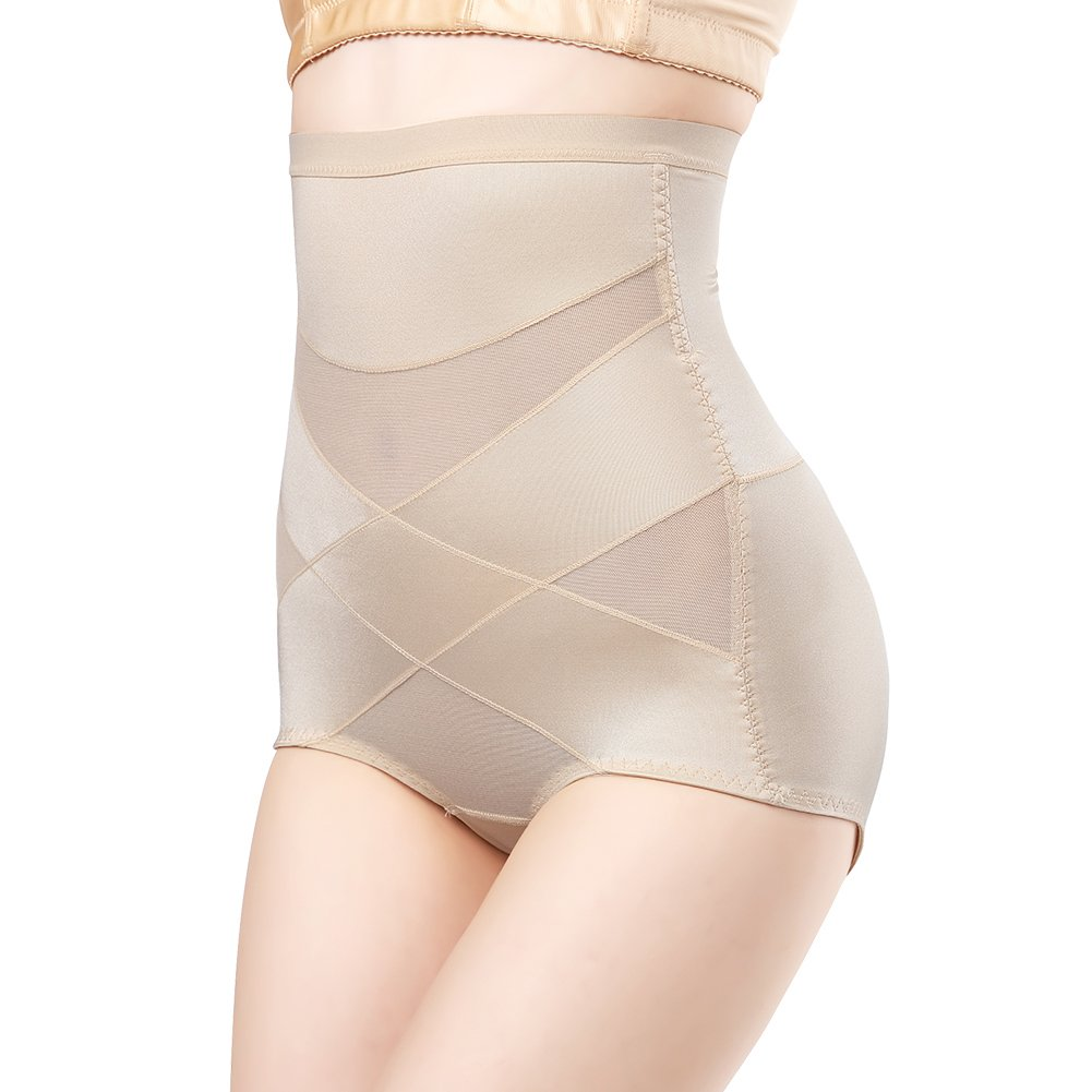 Queenral Hi-Waist Control Panties Shapewear Tummy Control Butt Lifter for Women