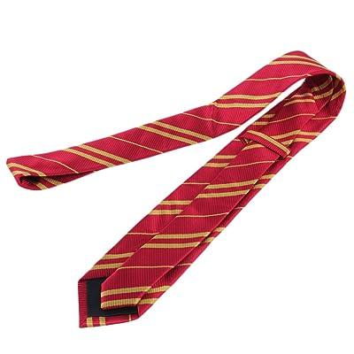 Ogquaton Rayon Tie College Style Tie Stripe Pattern Corbata Accesorios de Ropa para Cosplay Uso Diario 1PCS Rojo: Juguetes y juegos