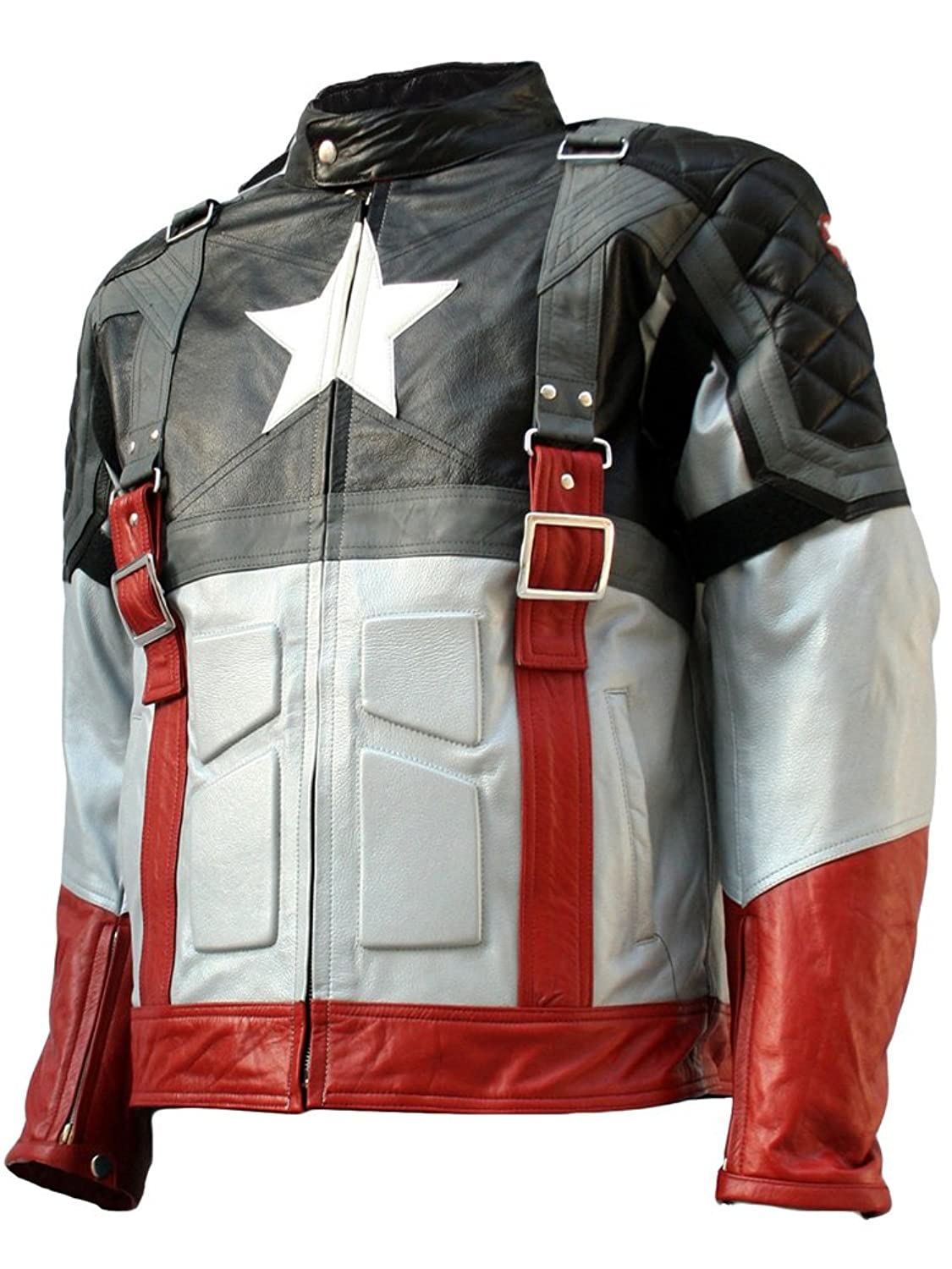 The First Avenger: Captain America Exclusive Black Real Leather Jacket - DeluxeAdultCostumes.com