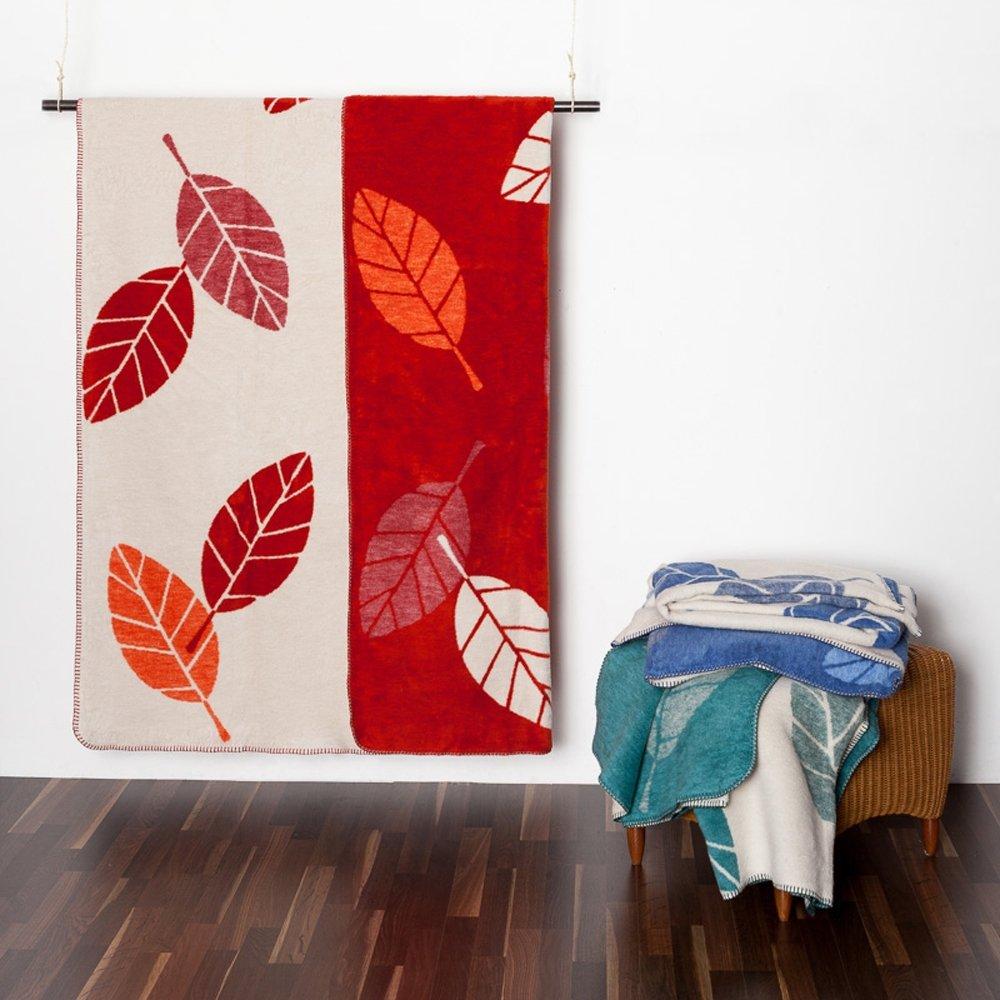 Richter Decke Blätter aus reiner Bio-Baumwolle
