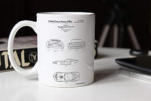 1966 Corvette Mako Shark II Patent Mug Car Canvas Corvette Mug Classic Car Decor Corvette Mug PP0339