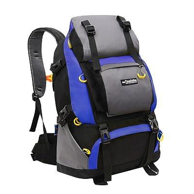 CXJ Sac De Sport Sac D'alpinisme En Plein Air Sac À Dos Randonnée Unisexe Sac À Dos De Grande Capacité En Nylon 50L,Blue