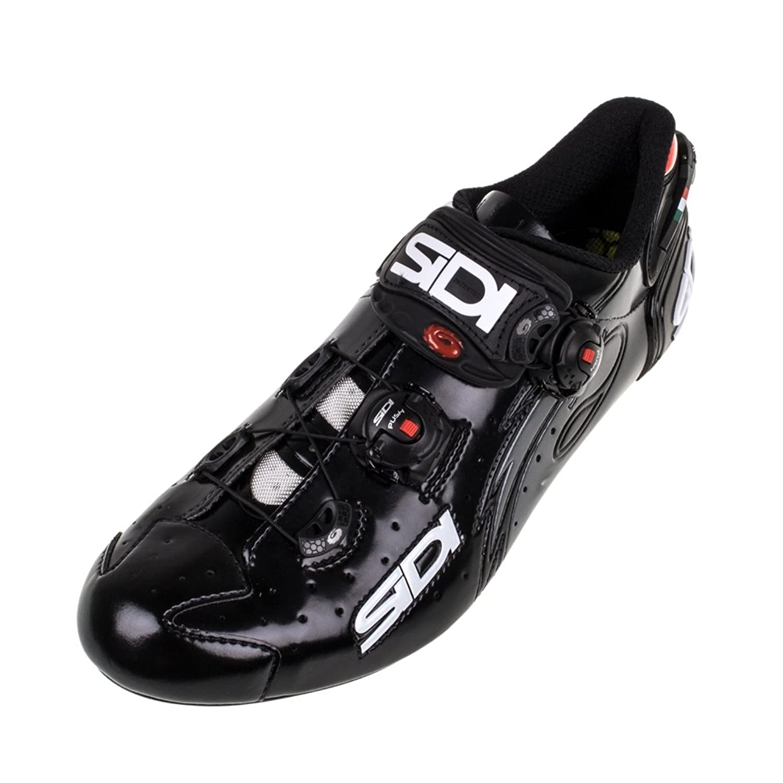 Amazon.com | Sidi Wire Carbon Vernice Road Shoe Black (Men\'s EURO 44 ...