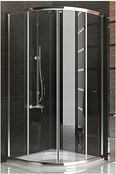 Ducha cabina de ducha de cuadrante ducha madera de 100 x190cm ...