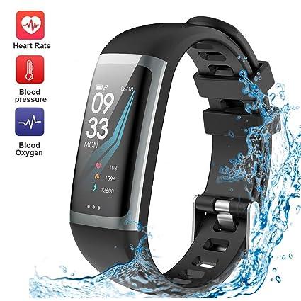 7b204f63972 Fitness Tracker Waterproof Smart Watch Wristband Heart Rate Sleep Monitor  Blood Pressure Test Multiple Sport Swimming Running Pedometer Men Women  Kids ...