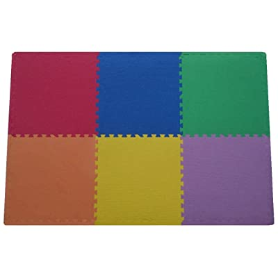 Get rung fitness mat with interlocking foam tiles for gym puzzle