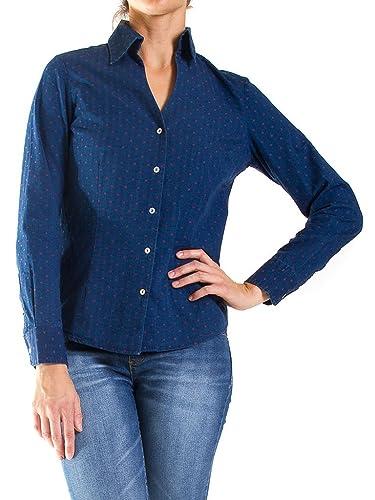 Carrera Jeans Camisa 270 Para Mujer, Estilo Clásico, Ajuste Regular, Manga Larga