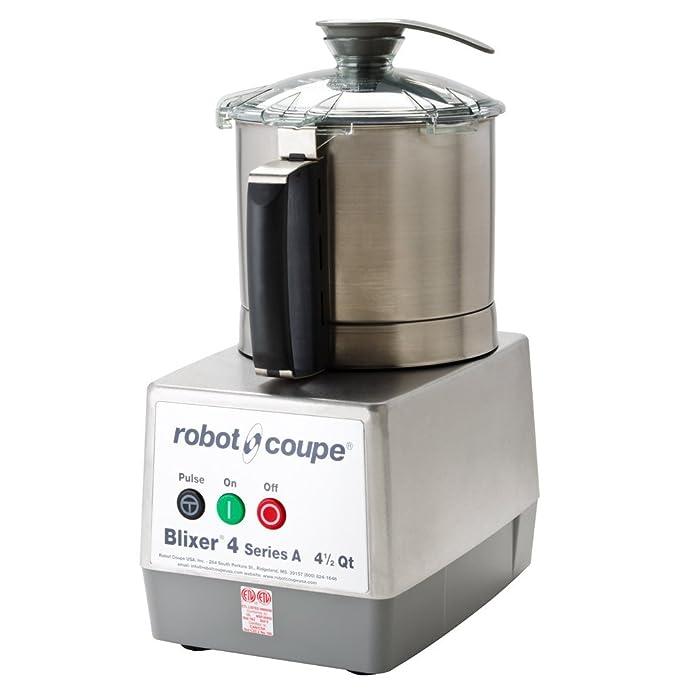 Robot Coupe BLIXER 4 Blixer Commercial Blender/Mixer, 4.5-Liter Bowl, Stainless Steel, 120v